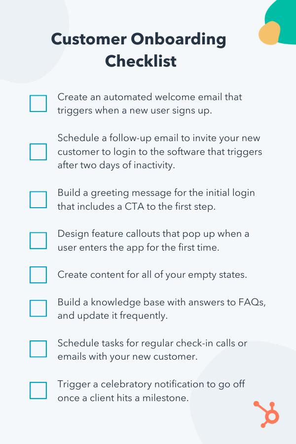 Customer onboarding checklist