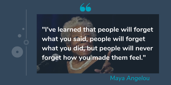 Image of: Love Quotes Customerservicequotemayaangelou Hubspot Blog 10 Great Customer Service Quotes To Inspire You