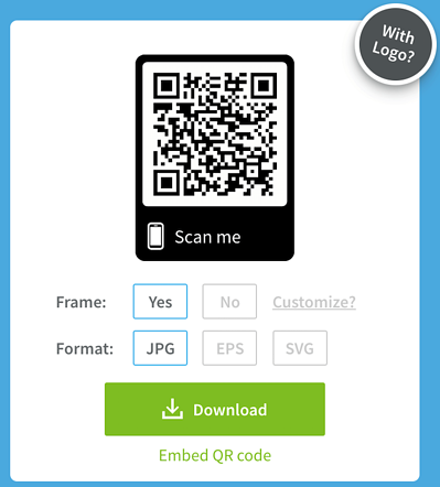 how to create a qr scan code for my website