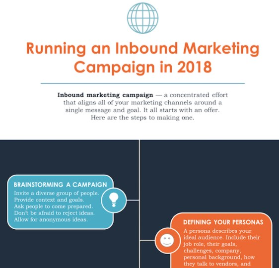 infographic template customized with hubspot colors and content
