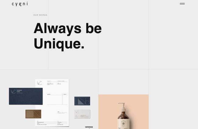 Cygni WordPress theme for artists and creatives