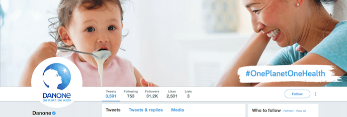 Cute Twitter header image by Danone