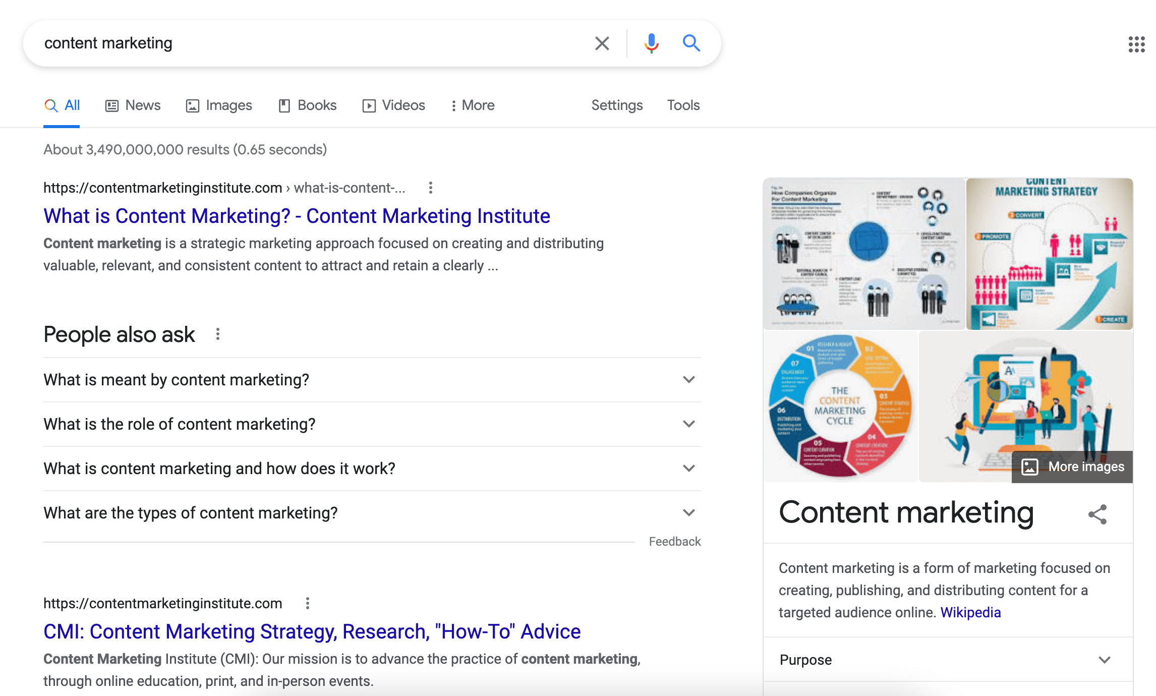 definition-related search results for the term content marketing