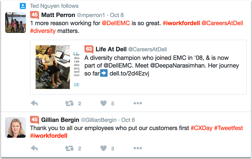 dell-1.png  How to Attract Talent With a Company Hashtag: 10 Inspiring Examples dell 1