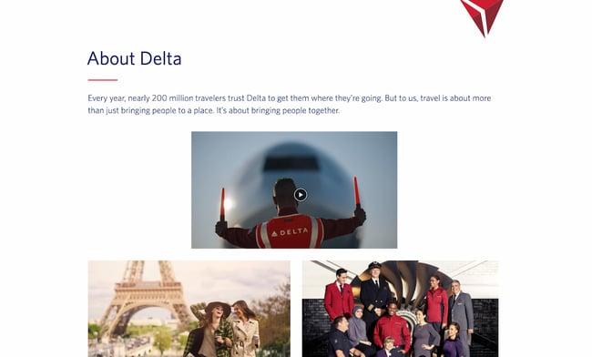 Company profile example: Delta