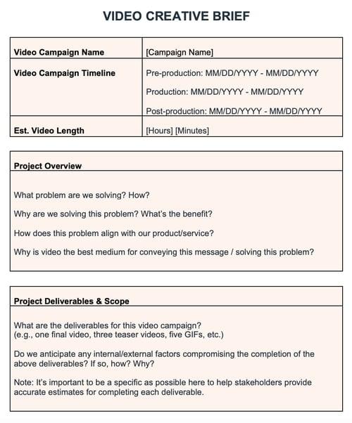 HubSpot Video Creative short template