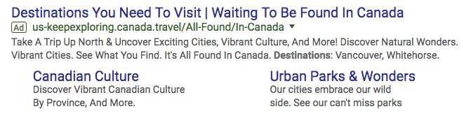 destination-canada-adwords-campaign