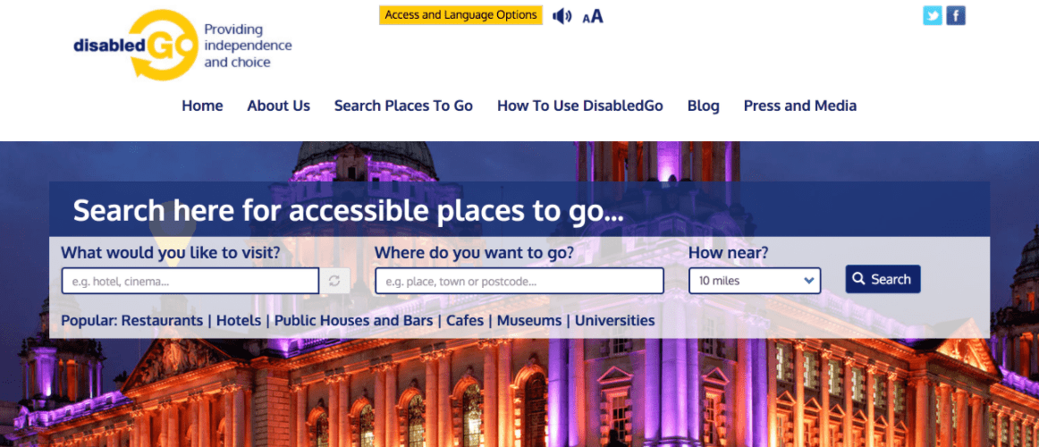 disabled go's website restructuring, as an example of internet marketing