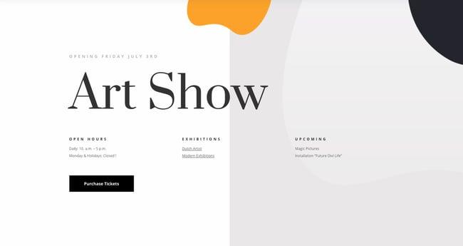 WordPress graphic design portfolio theme by Divi