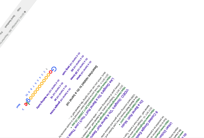 Google Easter egg allowing you to do a barrel roll
