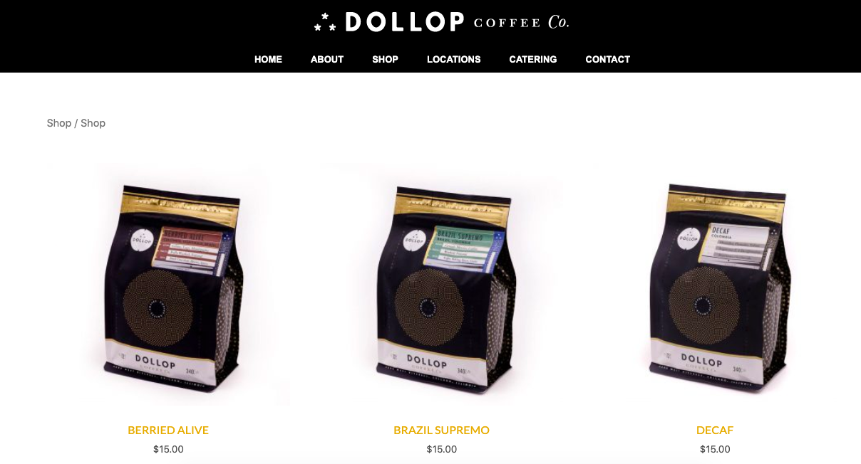 dollop coffee shop desktop