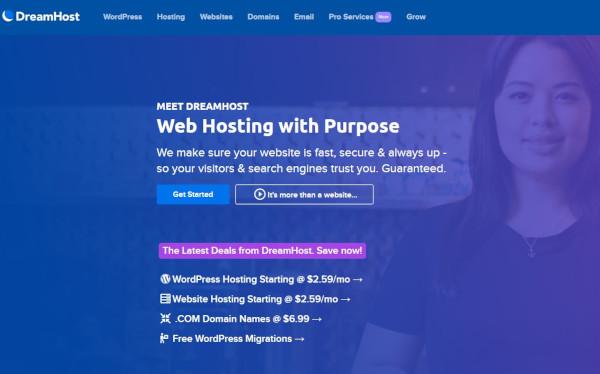 dreamhost shared hosting for wordpress