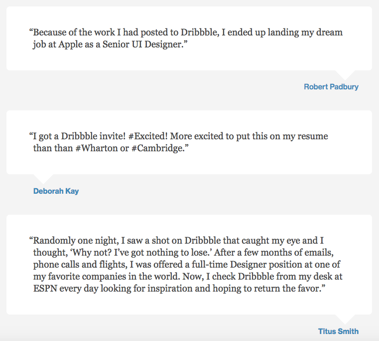 12 testimonial page examples youll want to copy dribbble testimonial example accmission Gallery