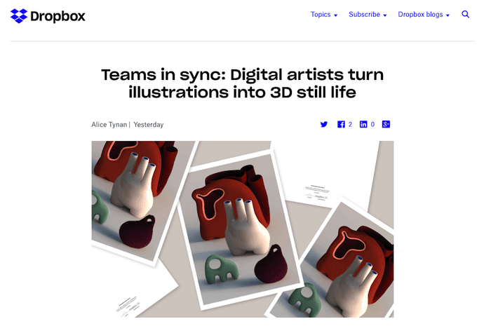 Dropbox blog on digital design