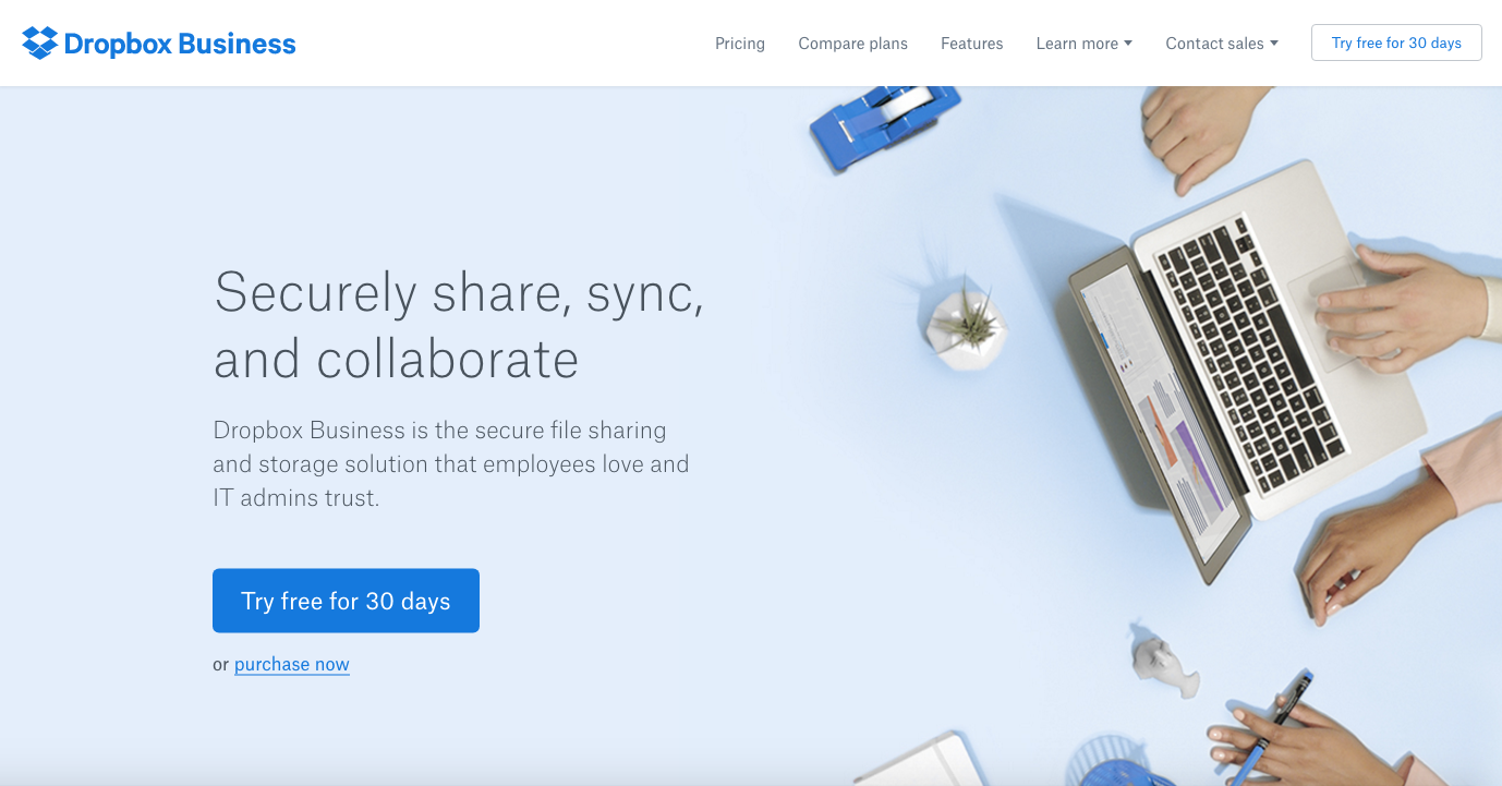 dropbox-business-homepage-update.png  20 of the Best Website Homepage Design Examples dropbox business homepage update
