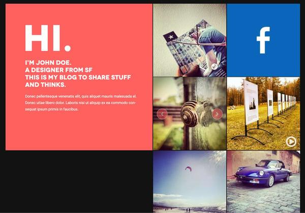 minimalist responsive tumblr-style homepage demo