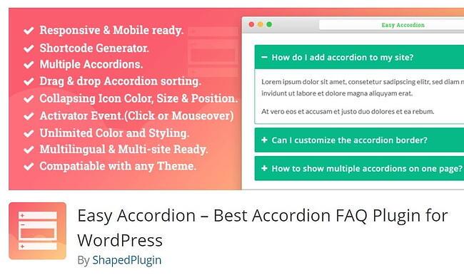 Orange to yellow gradient background for easy accordion FAQ plugin download by shaapedplugin