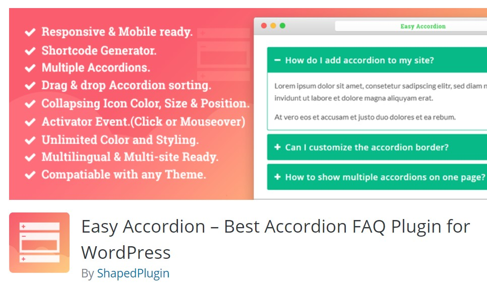 easy accordion faq