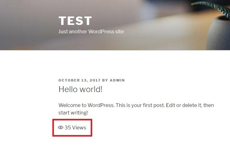 easy post views count plugin for WordPress post views