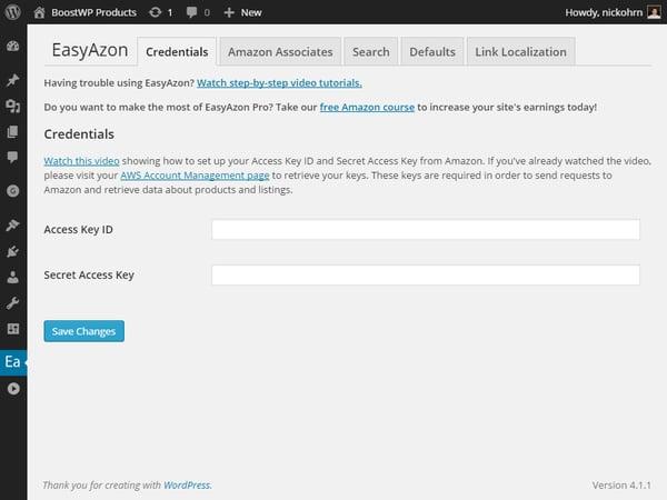 create wordpress afiliate link in wordpress editor demo