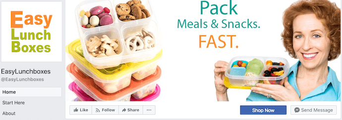 EasyLunchboxes Facebook Business Page