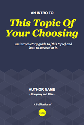 ebook template showing the cover of a writer's style guide