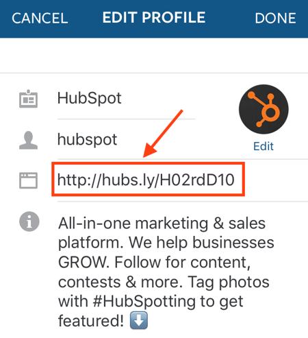Edit Link Instagram Profile Png