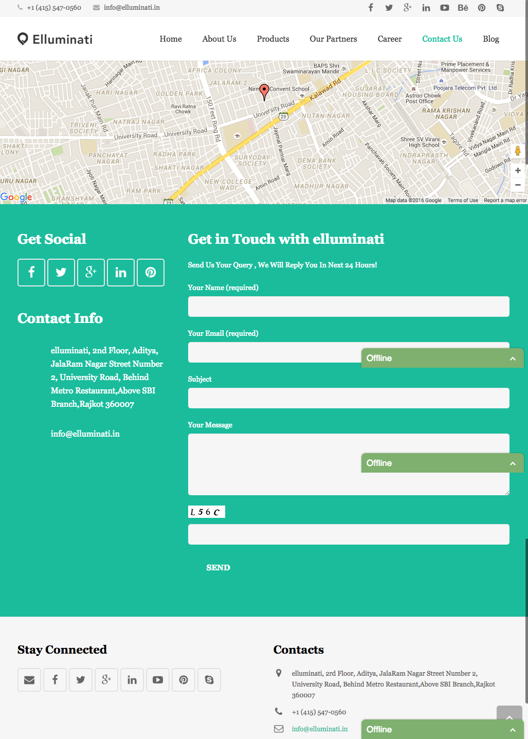 Of The Best Contact Us Pages Youll Want To Copy - Free find us map header