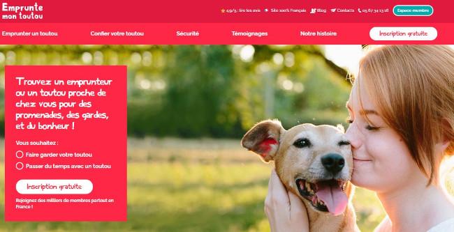 emprunte mon toutou website - example of avada theme