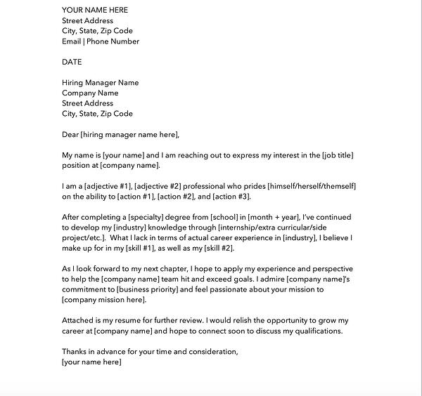 Cover Letter No Address Of Employer from blog.hubspot.com