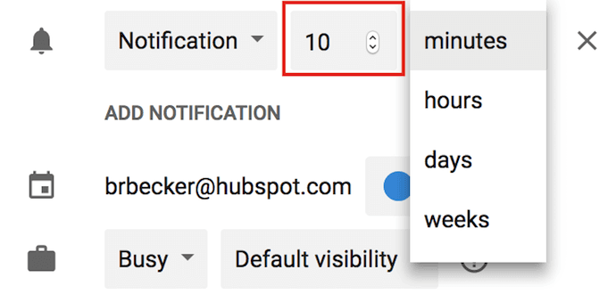 event-notification-minutes