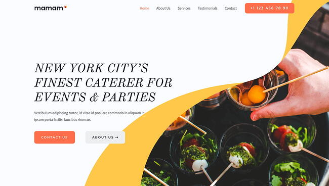 demo page for the event wordpress theme astra