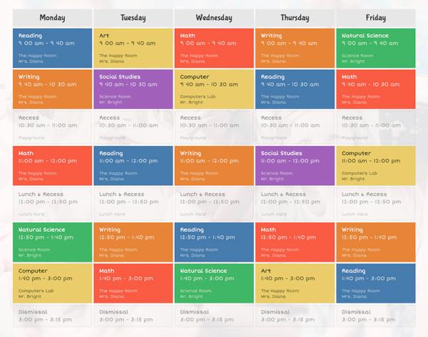 events schedule calendar plugin