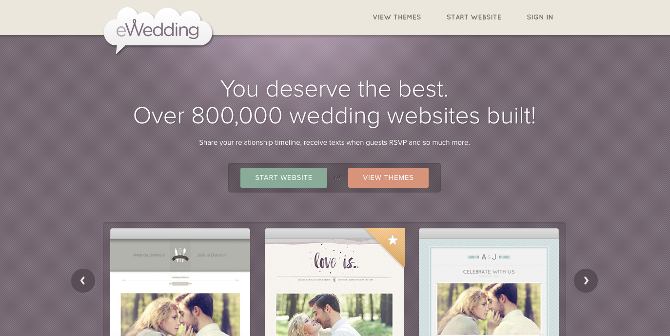 ewedding-homepage-update.png  20 of the Best Website Homepage Design Examples ewedding homepage update