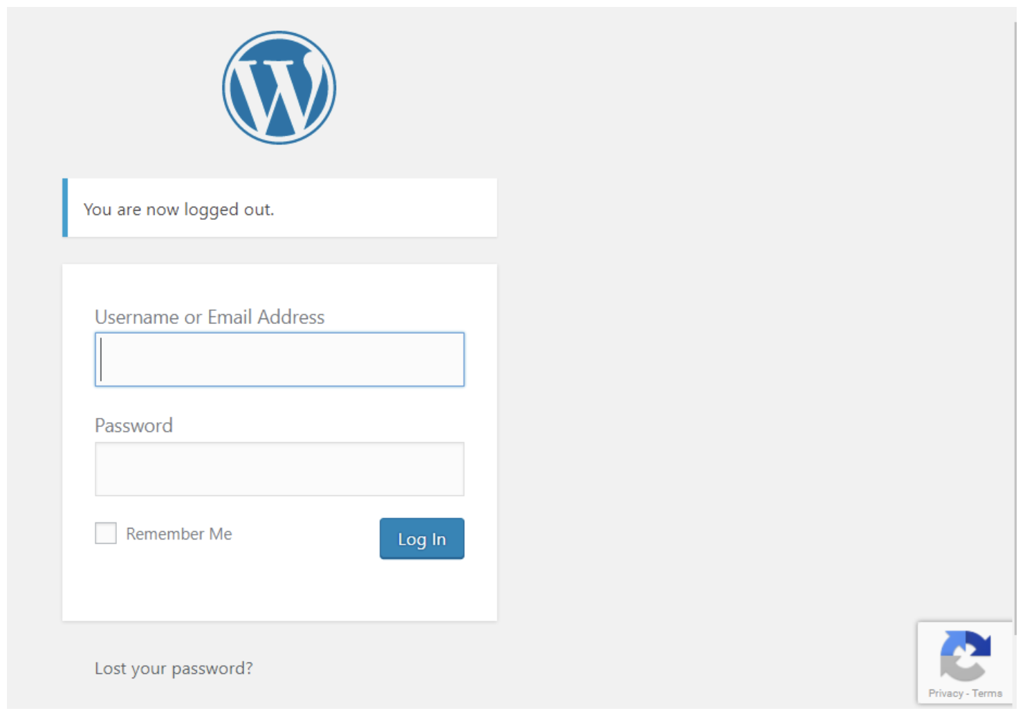 example of control spam integrating google invisible recaptcha wordpress site