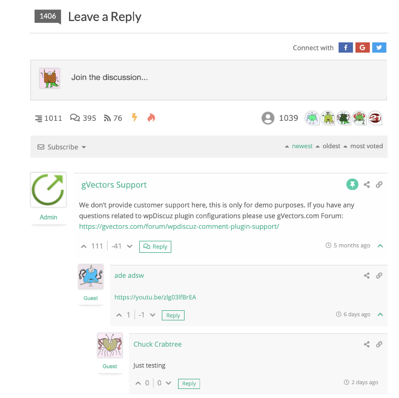 example of a wpdiscuz comment feature on a wordpress website