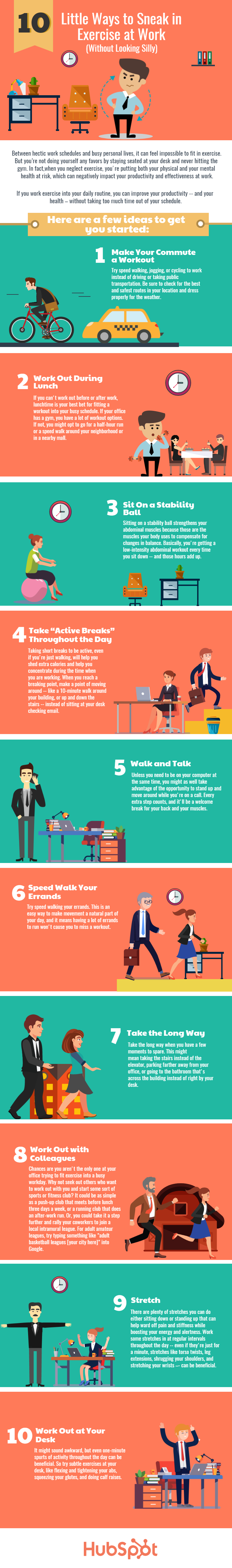 10 little ways to sneak in exercise at work without looking silly rh blog hubspot com how to exercise at your desk at work how to exercise while sitting at your desk