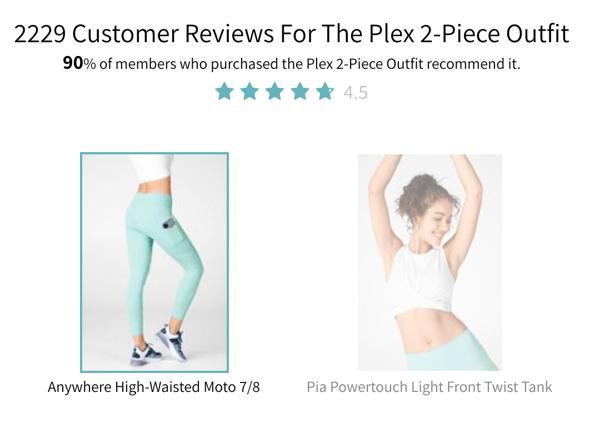 产品描述页面上的寓言社会证明。