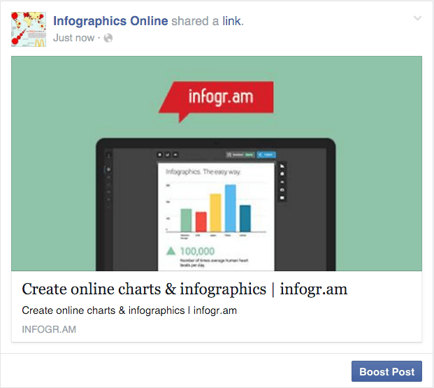 Facebook ad template for boosted post