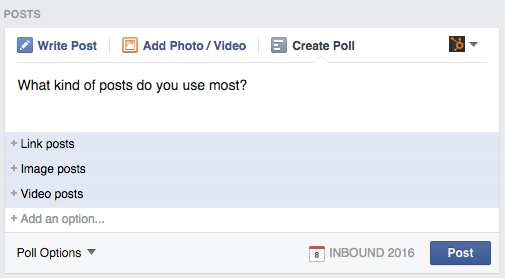 how to make a facebook poll on mobile