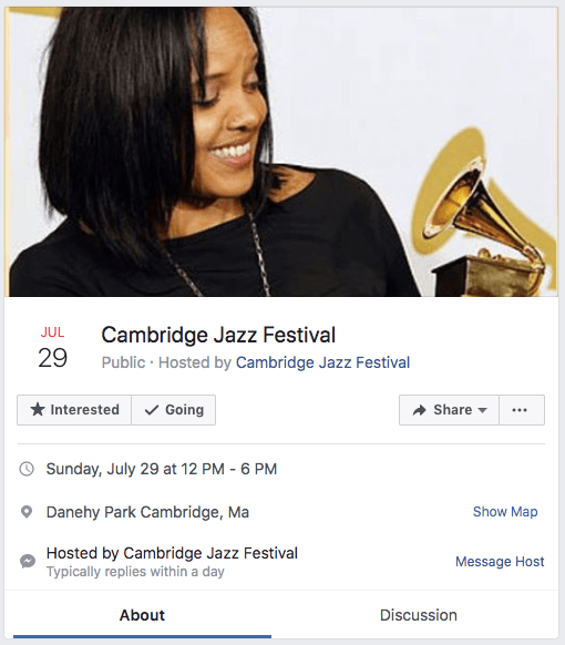 Facebook ad template for event