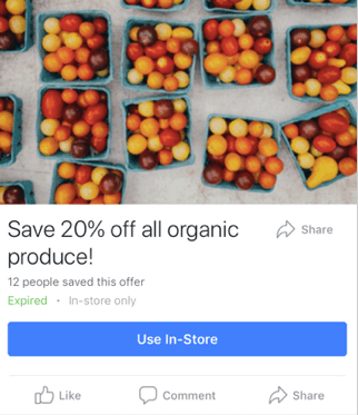Facebook ad template for offer