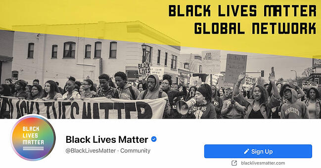 Facebook Page cover from BLM's FB Page