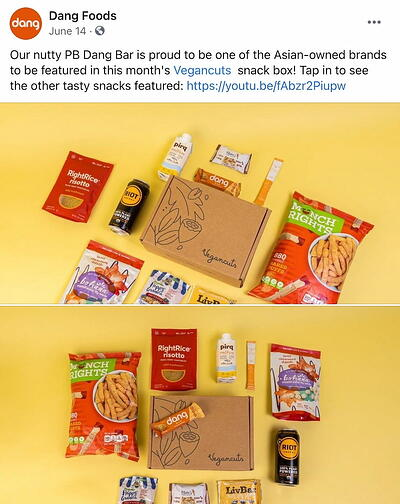 Facebook post from Dang Foods' FB Page