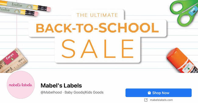 Facebook Page cover from Mabel's Labels' FB Page