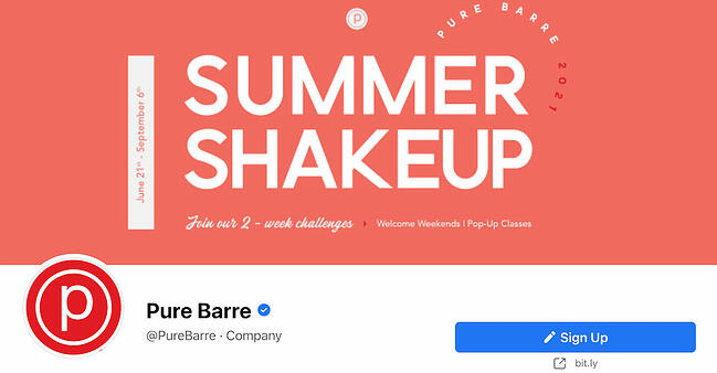 Facebook Page cover from Pure Barre FB Page