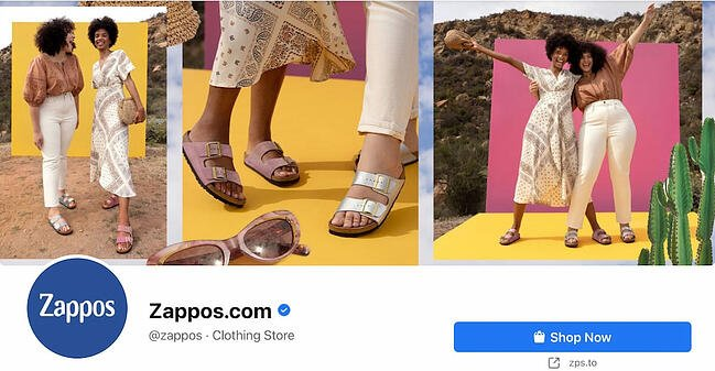 Facebook Page cover from Zappos' FB Page