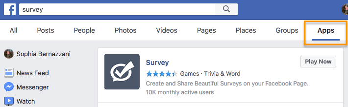 how to create a survey on facebook step 1