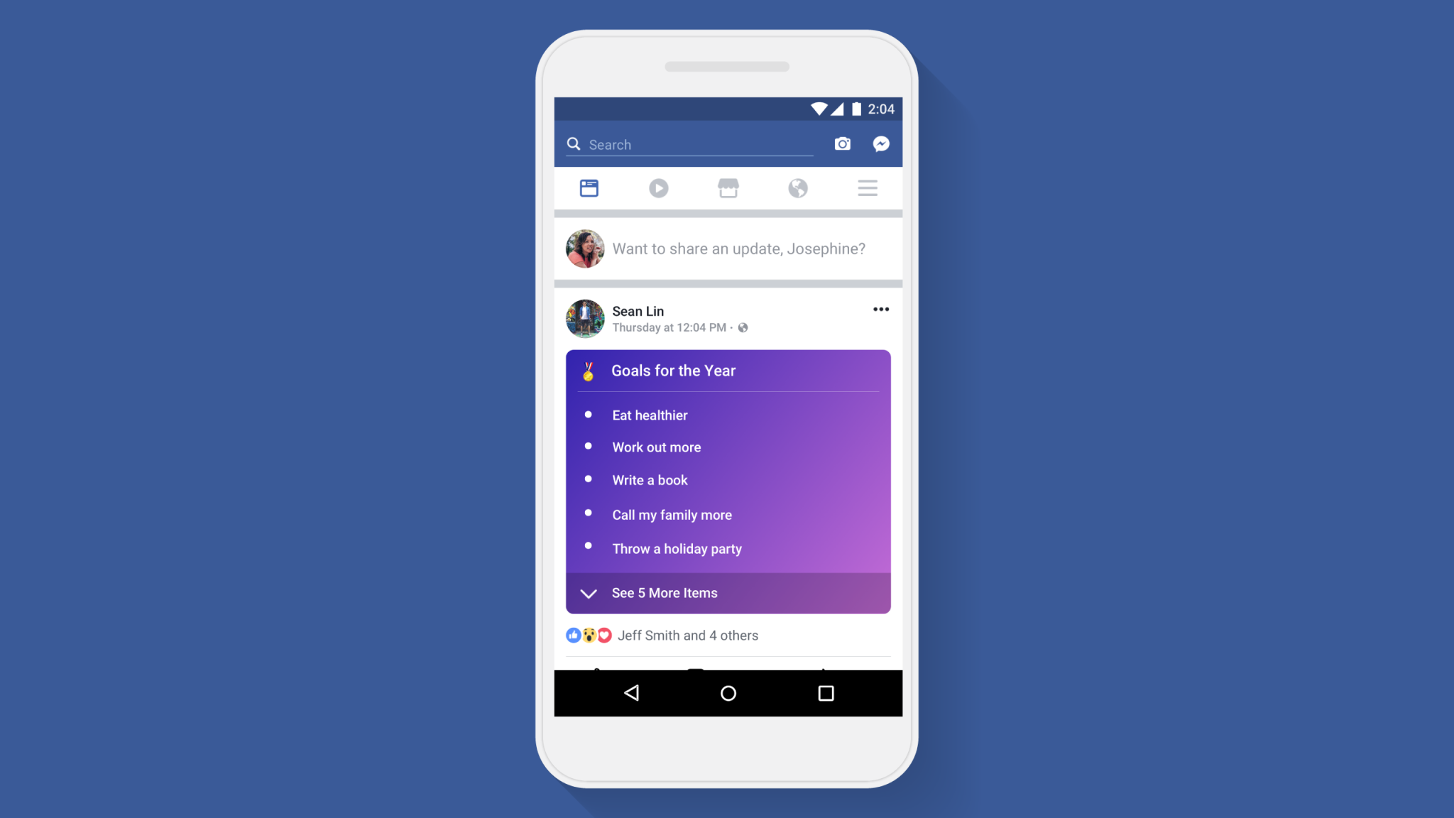 Facebook Continues to Emphasize Personal Content With New Feature fb app goals