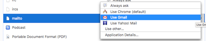 Option to make Gmail the default email client in Firefox